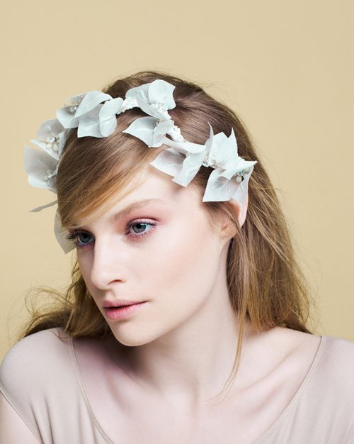 bougainvillea flower headpiece by Tami Bar-Lev