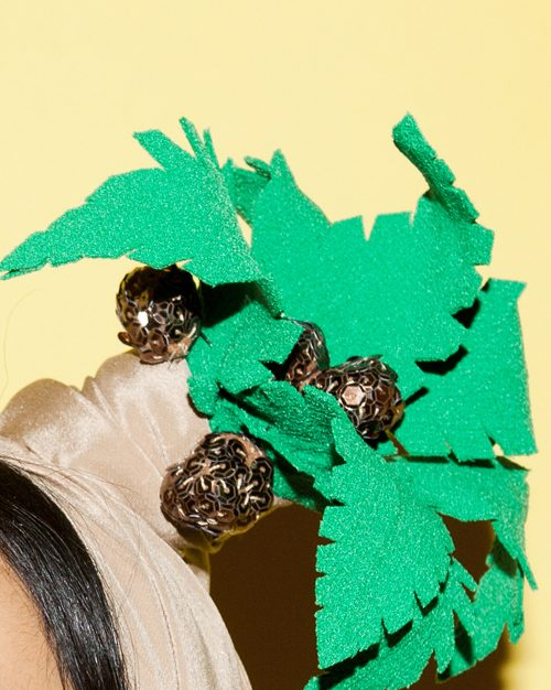 cocounut Turban headpiece by Tami Bar-Lev