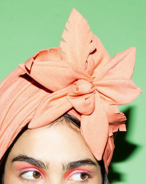 TIKI Turban headpiece by Tami Bar-Lev