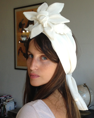 Liel Danir wearing Tami Bar-Lev TIKI Turban
