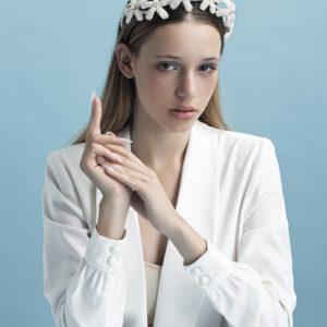 'Crystal Twinkle Corona ' Tiara by Tami Bar-Lev - headpiece