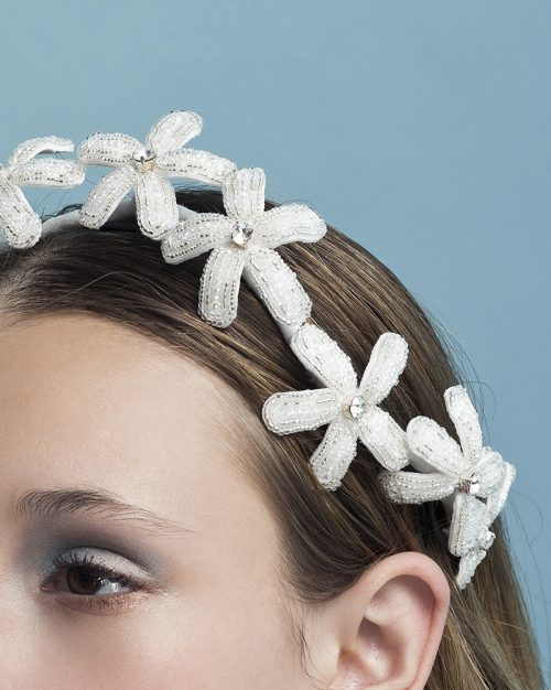 'Crystal Twinkle Corona ' Tiara by Tami Bar-Lev - headpiece