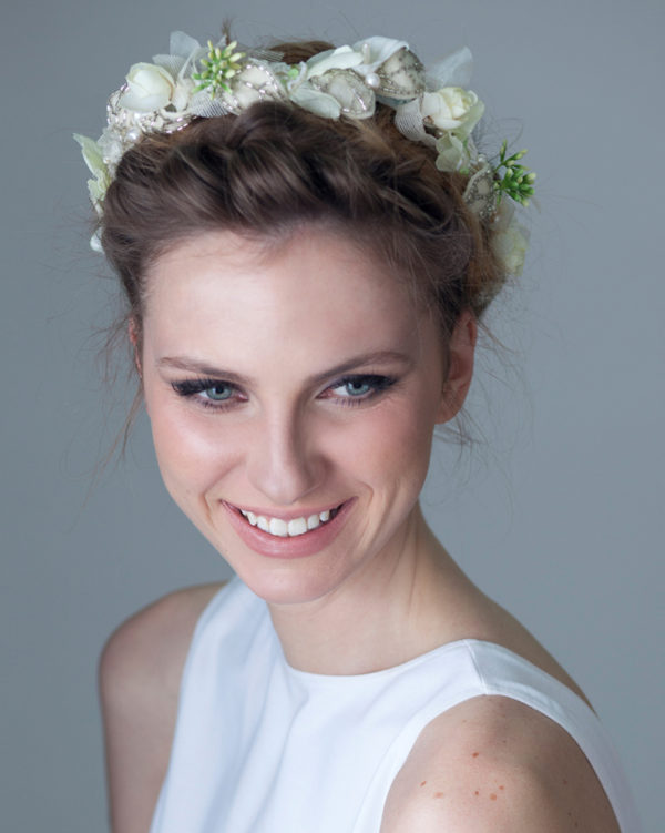Holiday flower crown by Tami Bar-Lev