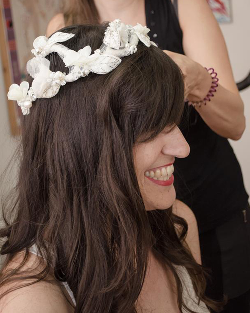 'Luxury Floral Corona' headpiece by Tami Bar-Lev