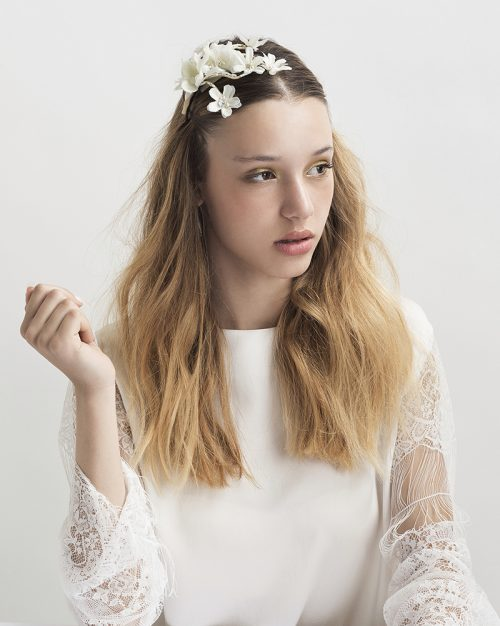 'Petite Flower Bunch' headpiece by Tami Bar-Lev