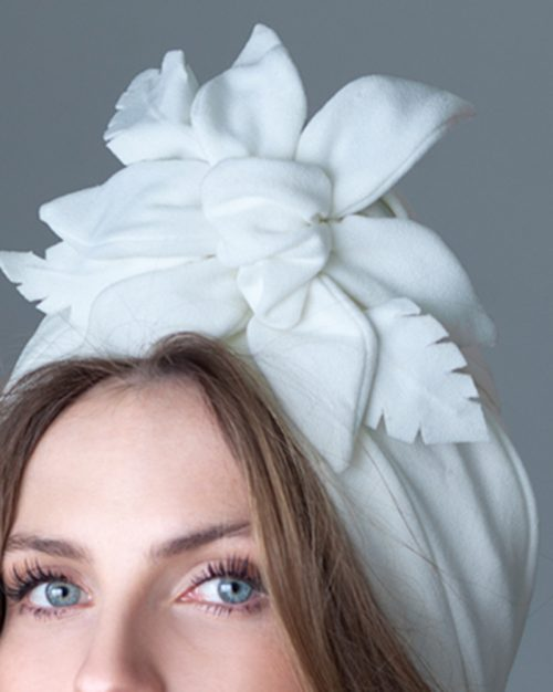 White Tiki - Turban by Tami Bar-Lev