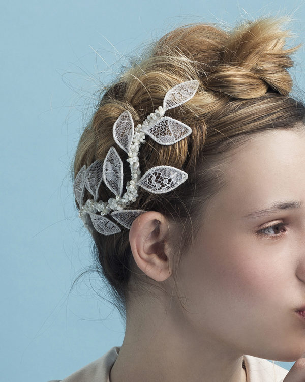 'Caesar in Lace' - Bridal Headpiece by Tami Bar-Lev
