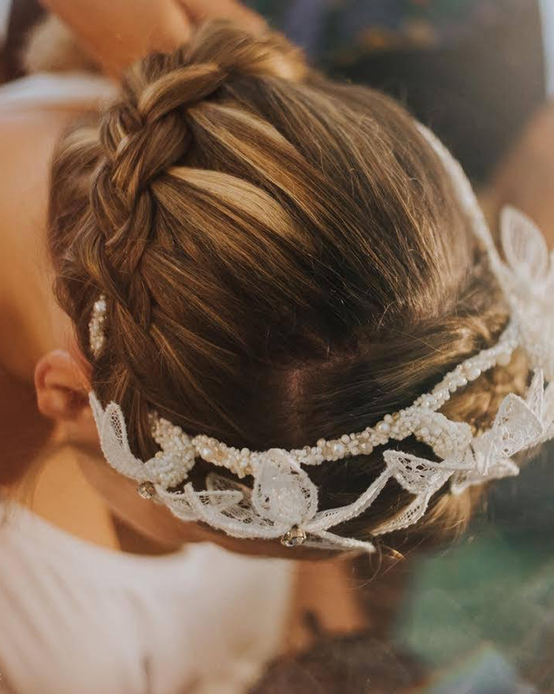 'Breathe Me' Lace Bridal Headpiece by Tami Bar-Lev
