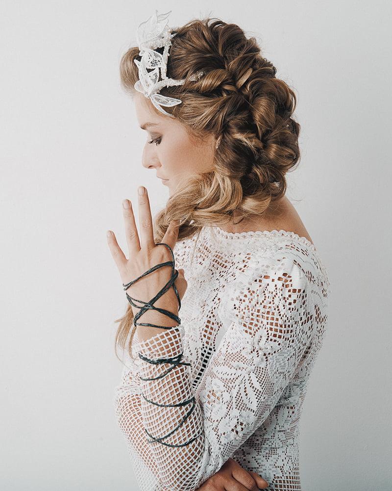 'Breathe Me' Lace Bridal Headpiece by Tami Bar-Lev