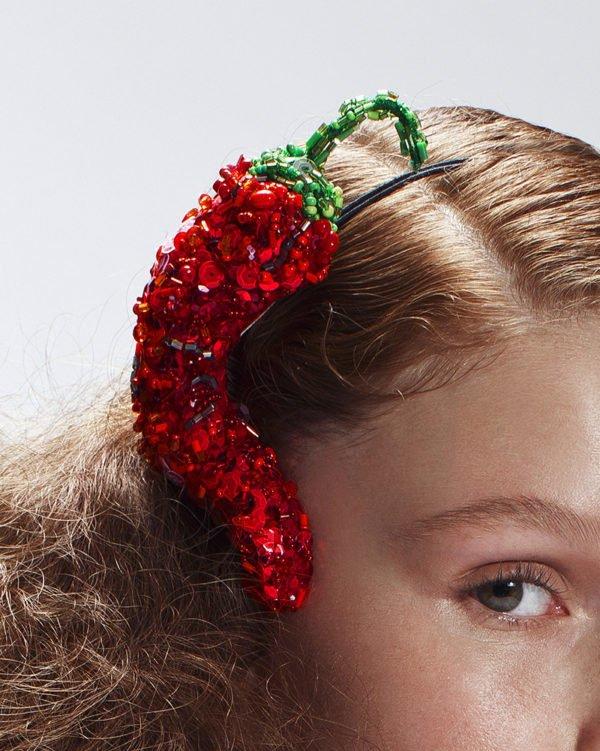 'Chili Pepper' Headband Headpiece by Tami Bar-Lev