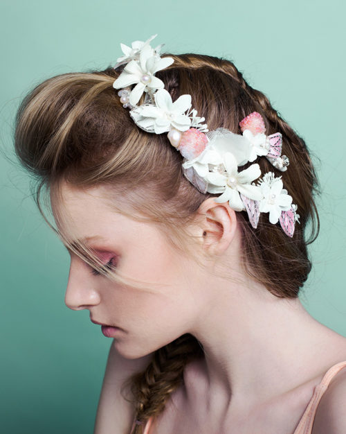 I Heart Raspberry Bridal Headpiece by Tami Bar-Lev