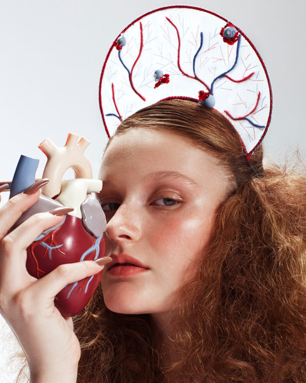 'In Vein' Halo - headpiece by Tami Bar-Lev