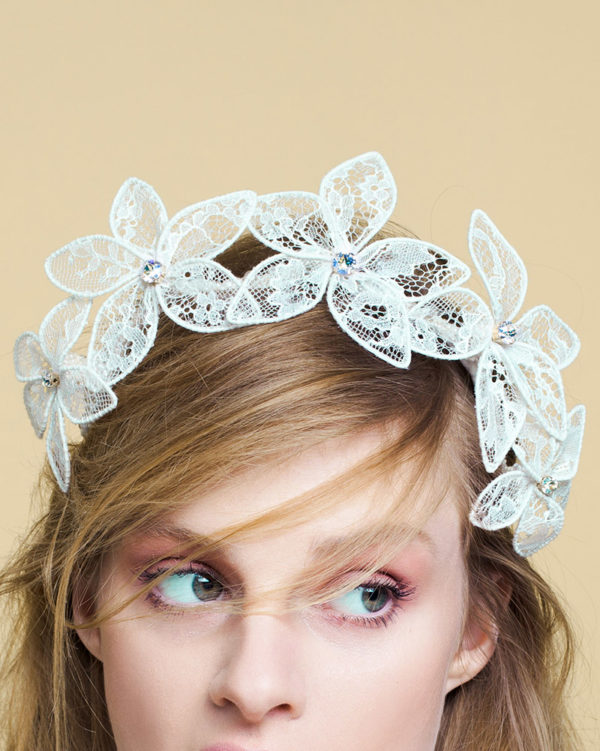 'Lacy LUV' - Lace Bridal Headpiece by Tami Bar-Lev