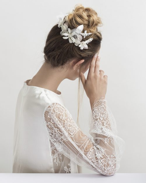 'Petite Blossom Whisper' -Bridal Headpiece by Tami Bar-Lev