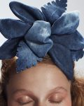 Denim 'TIKI' Flower Piece - Headband - Headpiece by Tami Bar-Lev