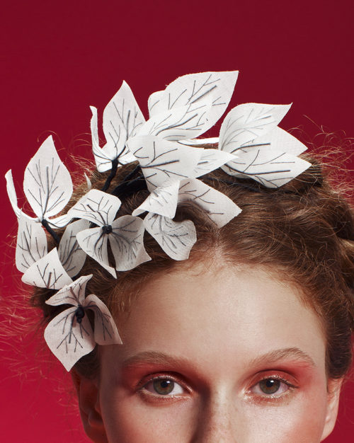 'X-Ray' Bougainvillea Headpiece by Tami Bar-Lev