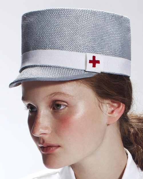 'Become a Nurse' Kepi Hat by Tami Bar-Lev