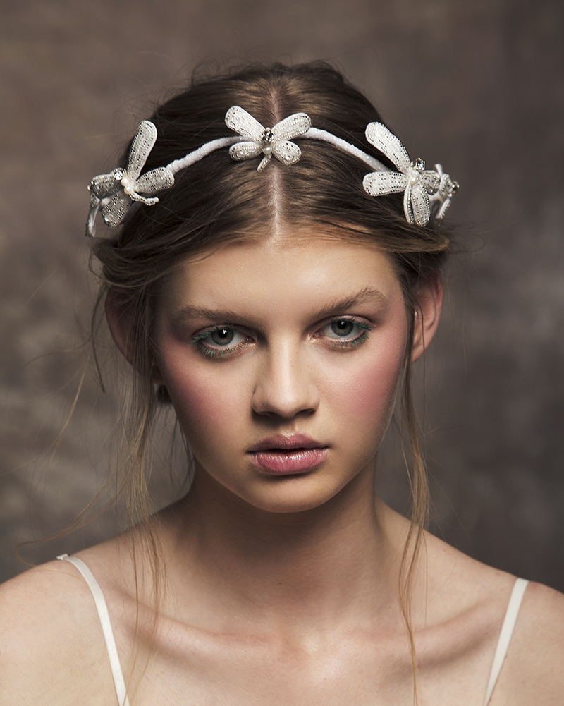 'Pure Water' Dragonfly Crown bridal headpiece by Tami Bar-lev