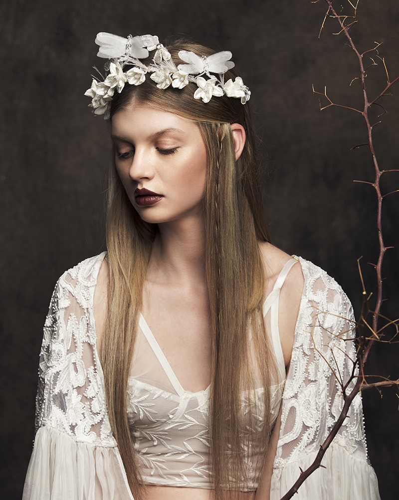 'Sacred Bundle' bridal headpiece by Tami Bar-lev