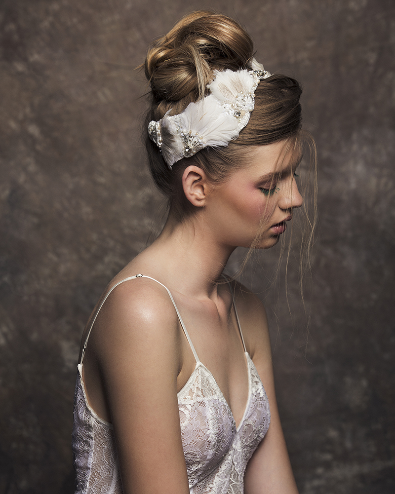 'In full Feather' bridal headpiece by Tami Bar-lev