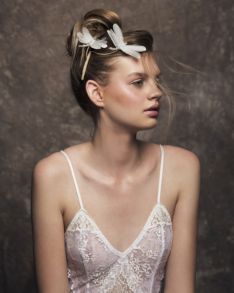 'DragonFly Away' bridal headpiece by Tami Bar-lev