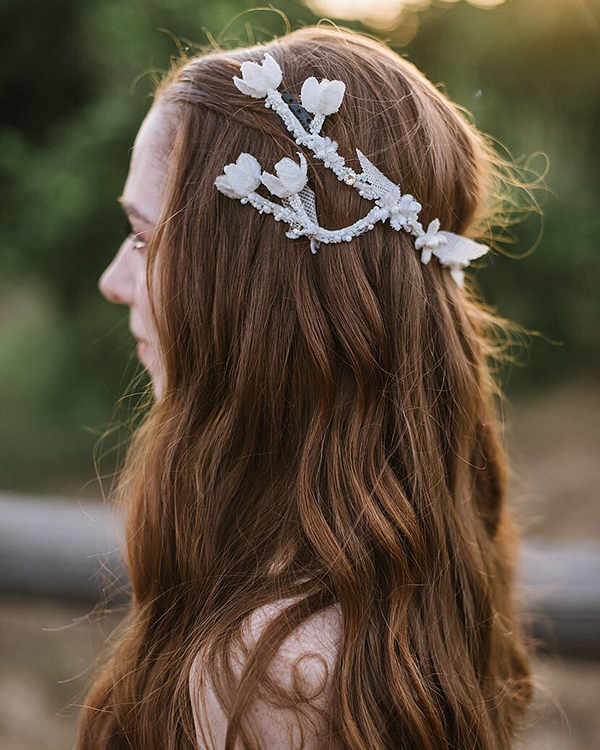 real brides - willow headpiece - Bridal Headpiece by Tami Bar- Lev