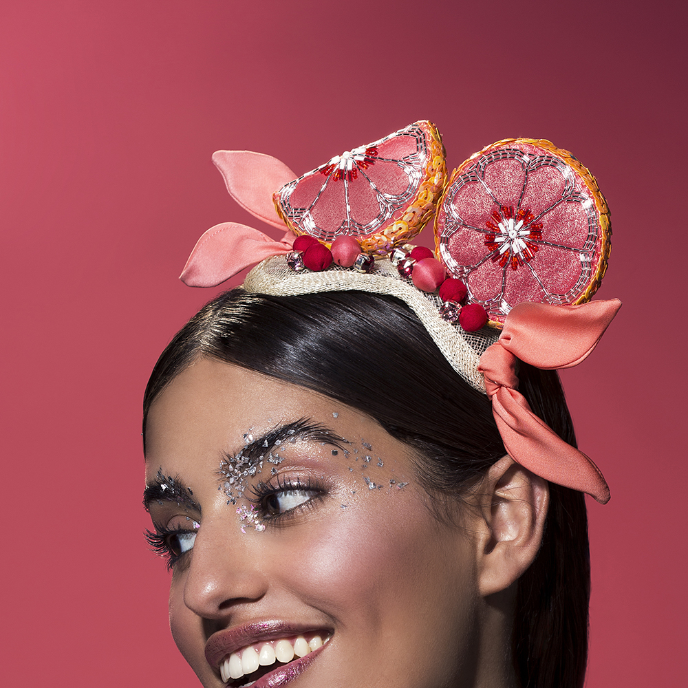 TAMI BAR-LEV X BVLGARI - 'PINK PULP' - Headpiece