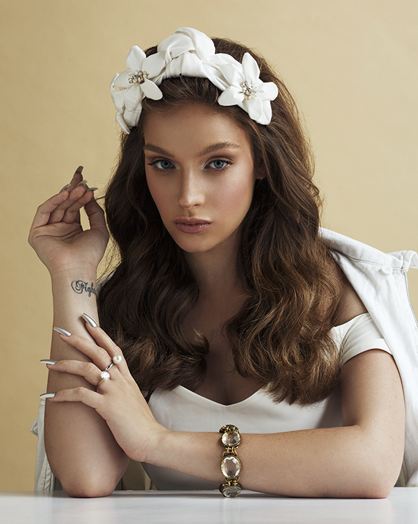 'Paradise of Mine'- Bridal Headpiece by Tami Bar- Lev