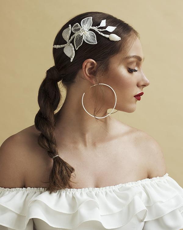 'La Jolla' Piece bridal Headpiece by Tami Bar- Lev