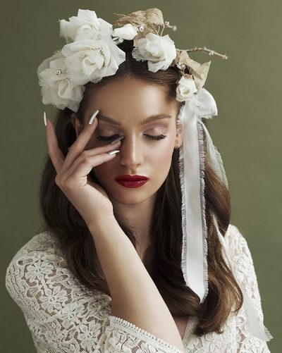 'Big Dreams' Rose Crown Bridal Headpiece by Tami Bar- Lev