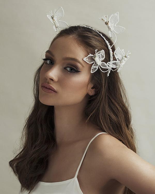 'Santa Cruz Butterflies' Bridal Headpiece by Tami Bar- Lev
