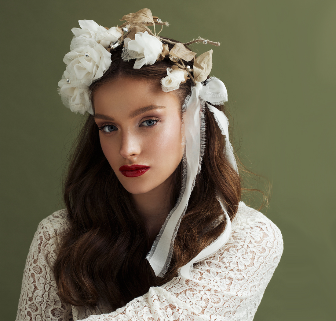 'Big Dreams' Rose Crown Bridal Headpiece by Tami Bar- Lev
