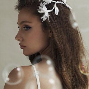 'Petit Flirty Flowers' Comb Bridal Headpiece by Tami Bar- Lev