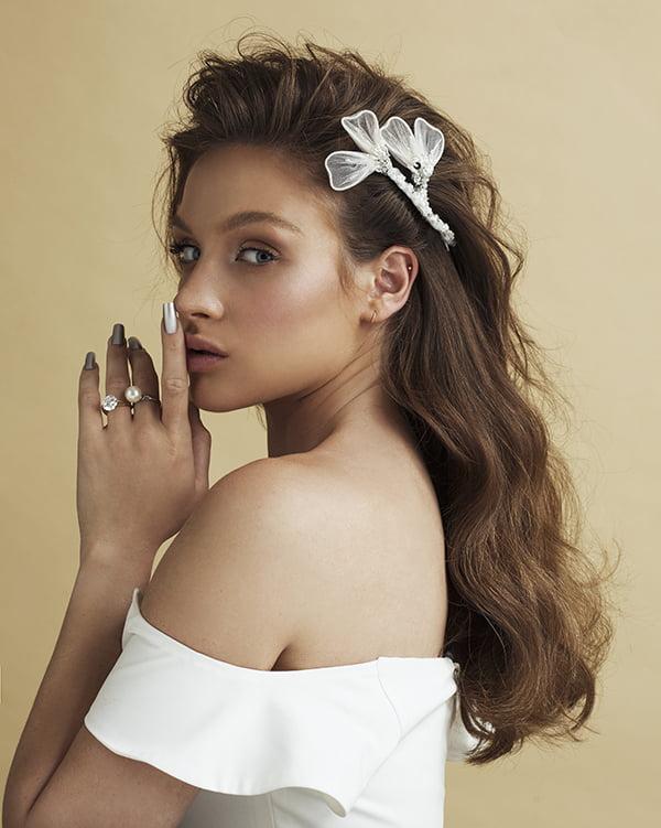 'Definitely Maybe' comb Bridal Headpiece by Tami Bar- Lev