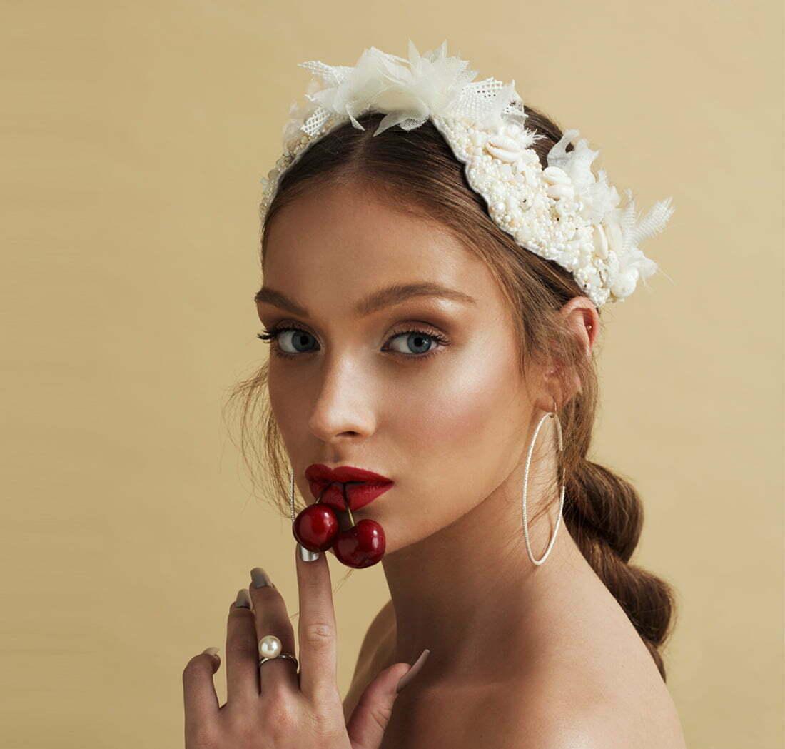 'Sandie Beach' Bridal Headpiece by Tami Bar- Lev