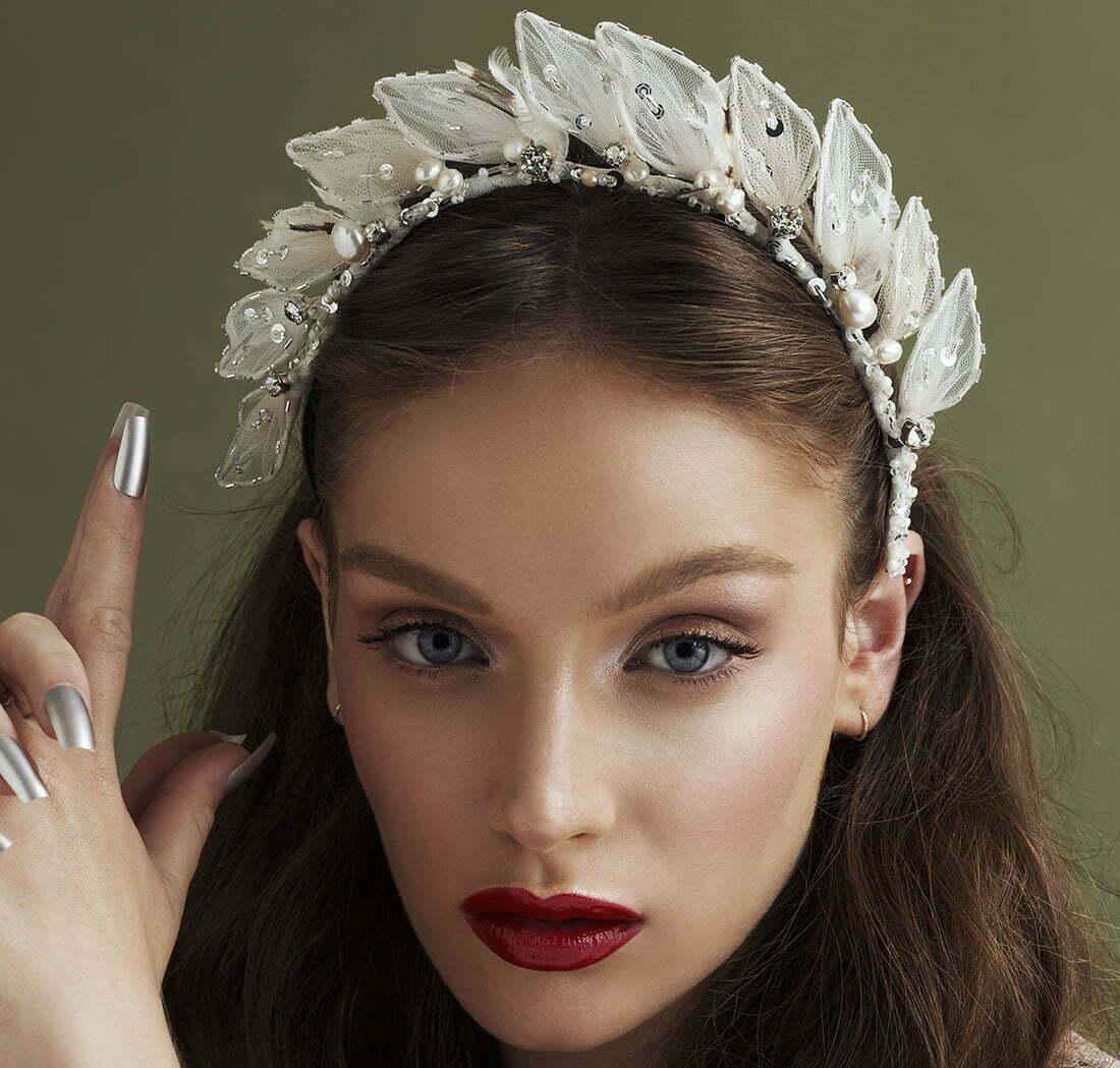 'Silver Starlets' Bridal Headpiece by Tami Bar- Lev