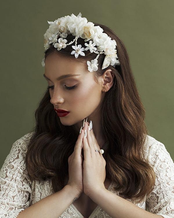 'Like True Love' - floral Bridal Headpiece by Tami Bar- Lev