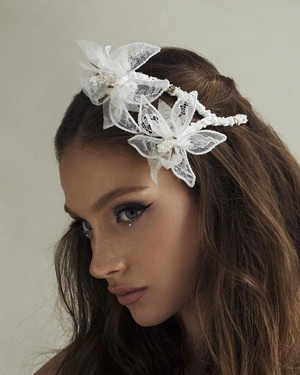 'Beach Wave' Flower Bridal Headpiece by Tami Bar- Lev