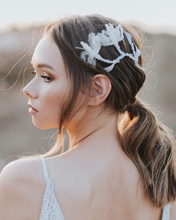 'Petit Flirty Flowers' Comb Bridal Headpiece by Tami Bar- Lev