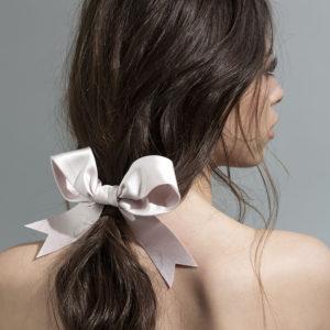 pale pink bow - ribbon Bridal Headpiece by Tami Bar- Lev