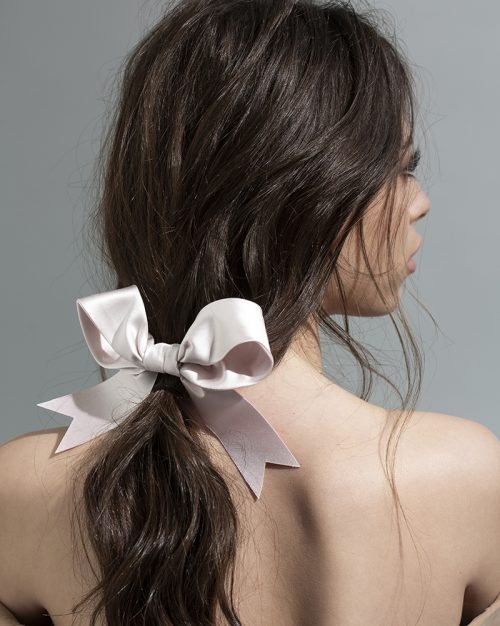 pale pink bow - ribbon Bridal Headpiece by Tami Bar- Lev