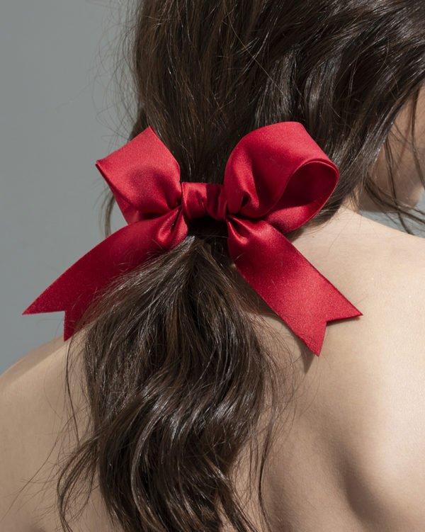 red bow - ribbon Bridal Headpiece by Tami Bar- Lev