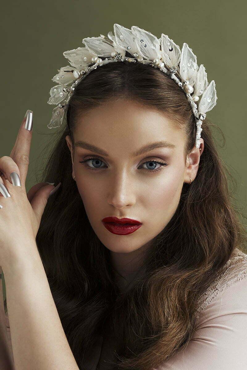 'Silver Starlets'Bridal Headpiece by Tami Bar- Lev
