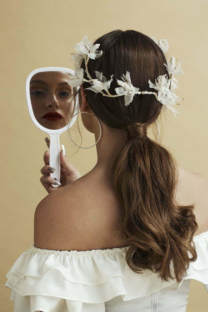 'Flirty Flowers' Headpiece by Tami Bar- Lev