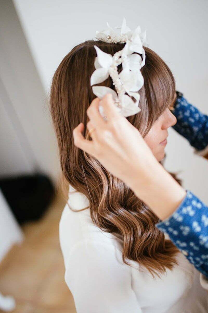 Flower crown Bridal Headpiece by Tami Bar- Lev