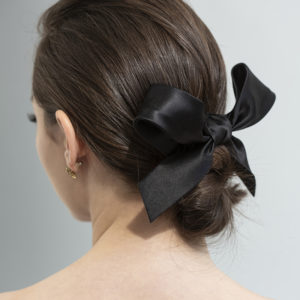 Classy Ribbon- bow -black silk by Tami Bar- Lev