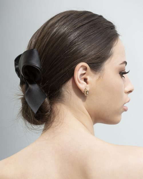 Classy Ribbon- bow -black silk by Tami Bar- Lev