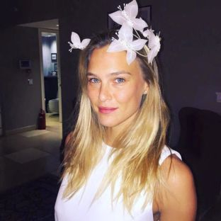 Bar Refaeli wearing Butterfly Headpiece by Tami Bar-Lev