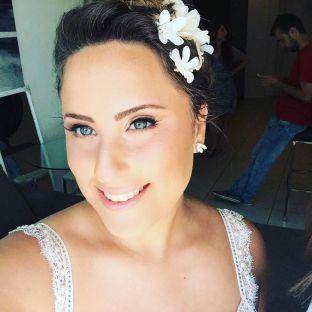 real wedding real bride- Floral Bridal Headpiece bridal headpiece by Tami Bar-lev