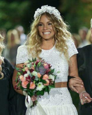 real wedding real bride- Lace Luxury Bridal Headpiece bridal headpiece by Tami Bar-lev